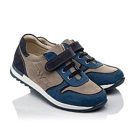 Детские кроссовки Woopy Orthopedic синие, серые для мальчиков натуральный нубук размер 33-40 (3785) Фото 1