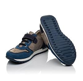Детские кроссовки Woopy Orthopedic синие, серые для мальчиков натуральный нубук размер 33-40 (3785) Фото 2
