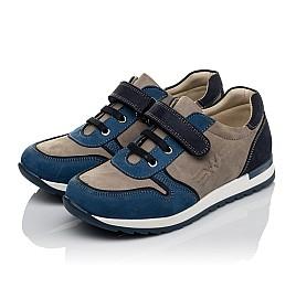 Детские кроссовки Woopy Orthopedic синие, серые для мальчиков натуральный нубук размер 33-40 (3785) Фото 3