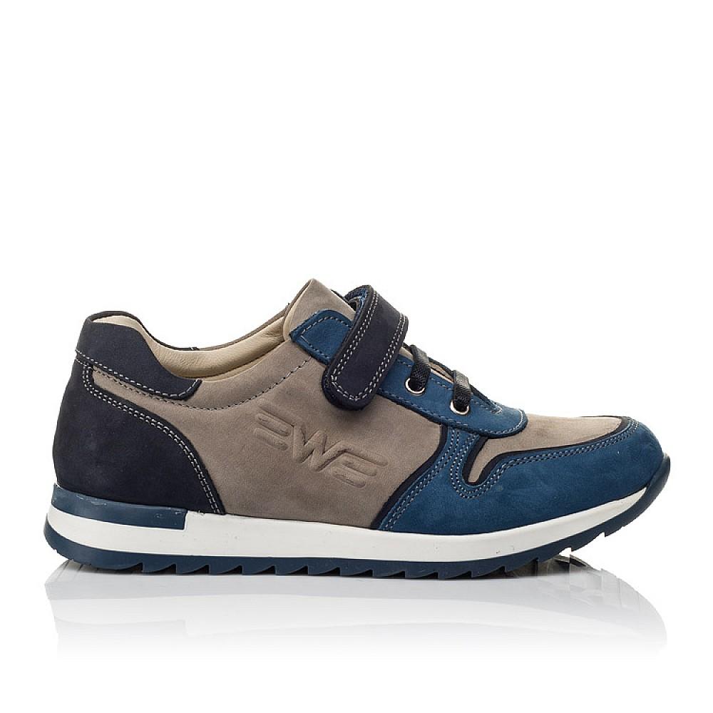 Детские кроссовки Woopy Orthopedic синие, серые для мальчиков натуральный нубук размер 33-40 (3785) Фото 4