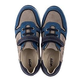 Детские кроссовки Woopy Orthopedic синие, серые для мальчиков натуральный нубук размер 33-40 (3785) Фото 5
