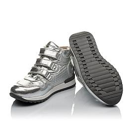 Детские демисезонные ботинки Woopy Orthopedic серебряные для девочек натуральная кожа размер 26-36 (3788) Фото 2