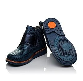 Детские демисезонные ботинки Woopy Orthopedic синие для девочек натуральная кожа размер 19-31 (3789) Фото 2