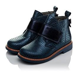 Детские демисезонные ботинки Woopy Orthopedic синие для девочек натуральная кожа размер 19-31 (3789) Фото 3