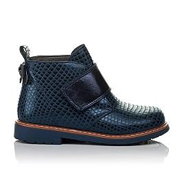 Детские демисезонные ботинки Woopy Orthopedic синие для девочек натуральная кожа размер 19-31 (3789) Фото 4