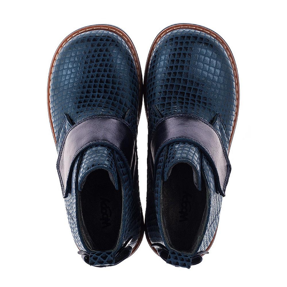 Детские демисезонные ботинки Woopy Orthopedic синие для девочек натуральная кожа размер 19-33 (3789) Фото 5