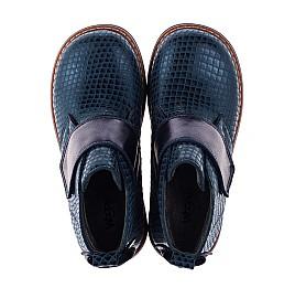 Детские демисезонные ботинки Woopy Orthopedic синие для девочек натуральная кожа размер 19-31 (3789) Фото 5