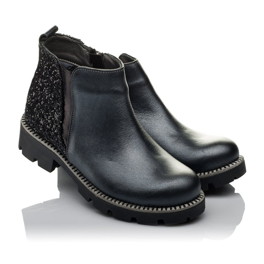 Детские демисезонные ботинки Woopy Orthopedic серые для девочек натуральная кожа, текстиль размер 30-38 (3791) Фото 1