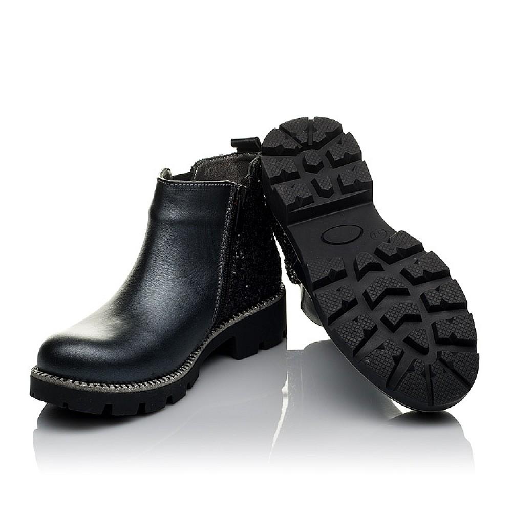 Детские демисезонные ботинки Woopy Orthopedic серые для девочек натуральная кожа, текстиль размер 30-38 (3791) Фото 2