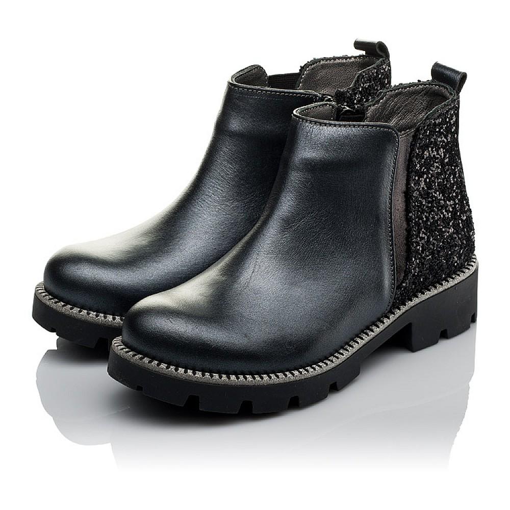 Детские демисезонные ботинки Woopy Orthopedic серые для девочек натуральная кожа, текстиль размер 30-38 (3791) Фото 3