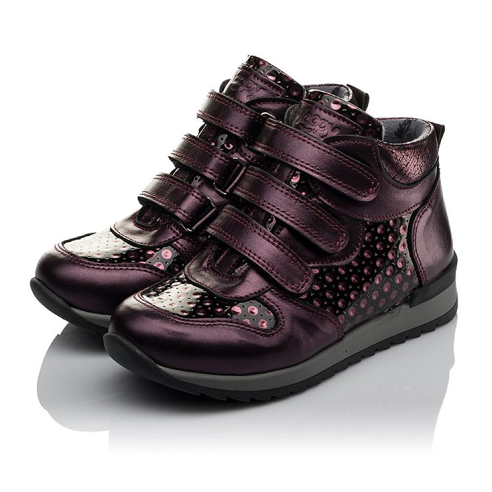 Детские демисезонные ботинки Woopy Orthopedic фиолетовые для девочек натуральная кожа размер 26-34 (3792) Фото 3