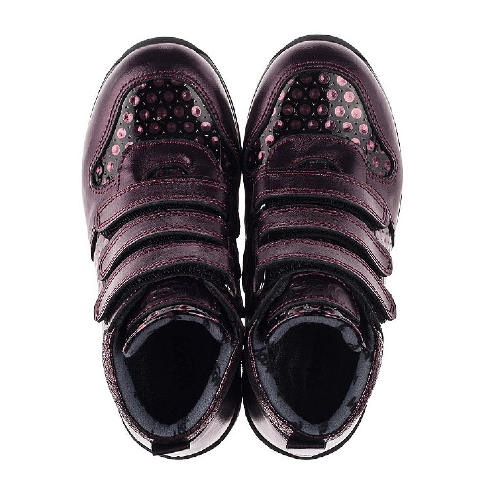 Детские демисезонные ботинки Woopy Orthopedic фиолетовые для девочек натуральная кожа размер 26-34 (3792) Фото 5
