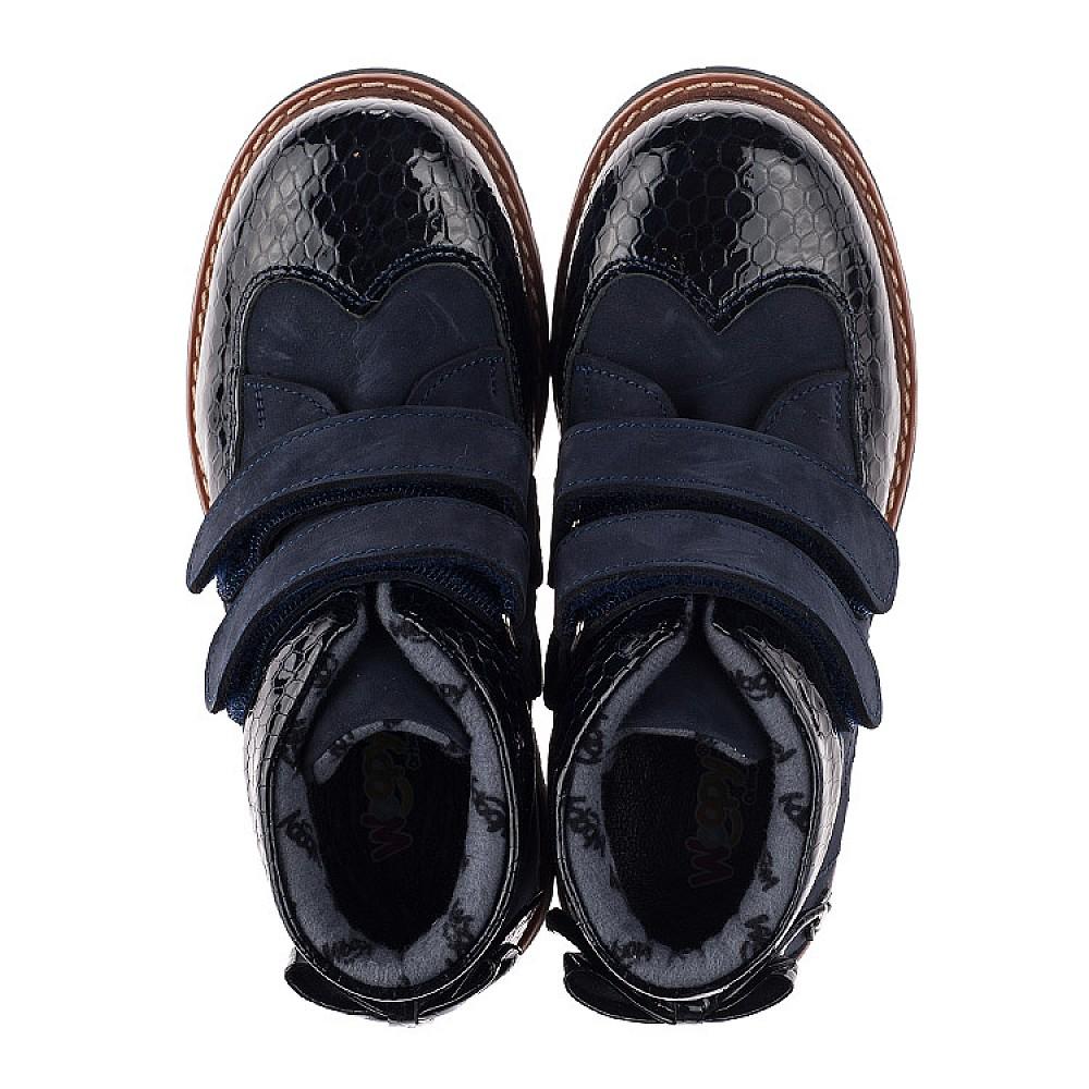 Детские демисезонные ботинки Woopy Orthopedic синие для девочек нубук, лаковая кожа размер 31-38 (3793) Фото 5