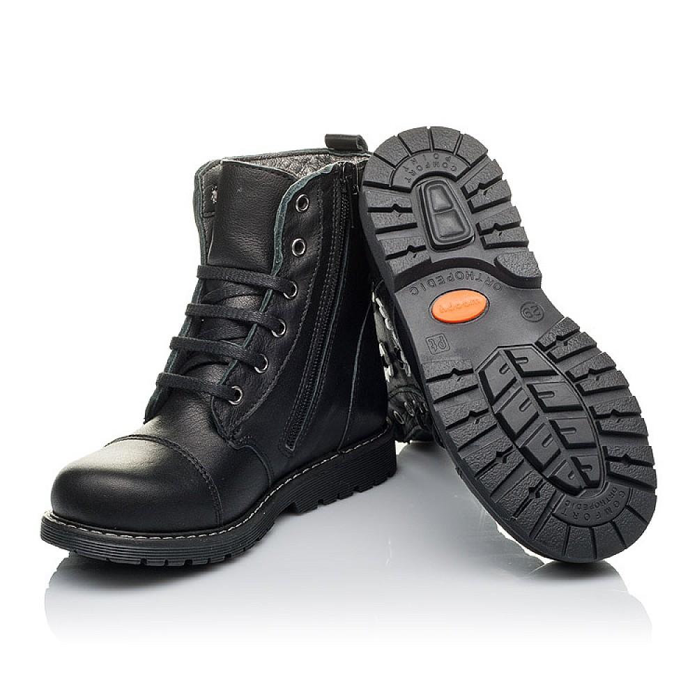 Детские демисезонные ботинки Woopy Orthopedic черные для девочек натуральная кожа размер 26-36 (3794) Фото 2