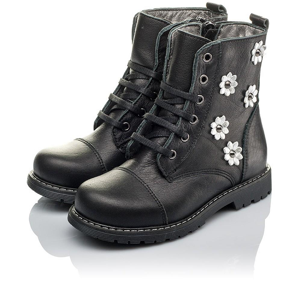 Детские демисезонные ботинки Woopy Orthopedic черные для девочек натуральная кожа размер 26-36 (3794) Фото 3