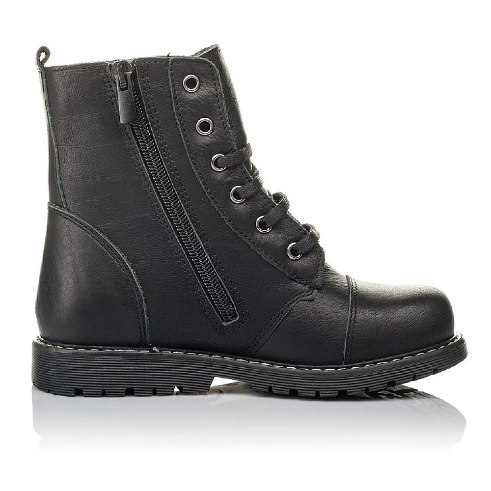 Детские демисезонные ботинки Woopy Orthopedic черные для девочек натуральная кожа размер 26-36 (3794) Фото 5