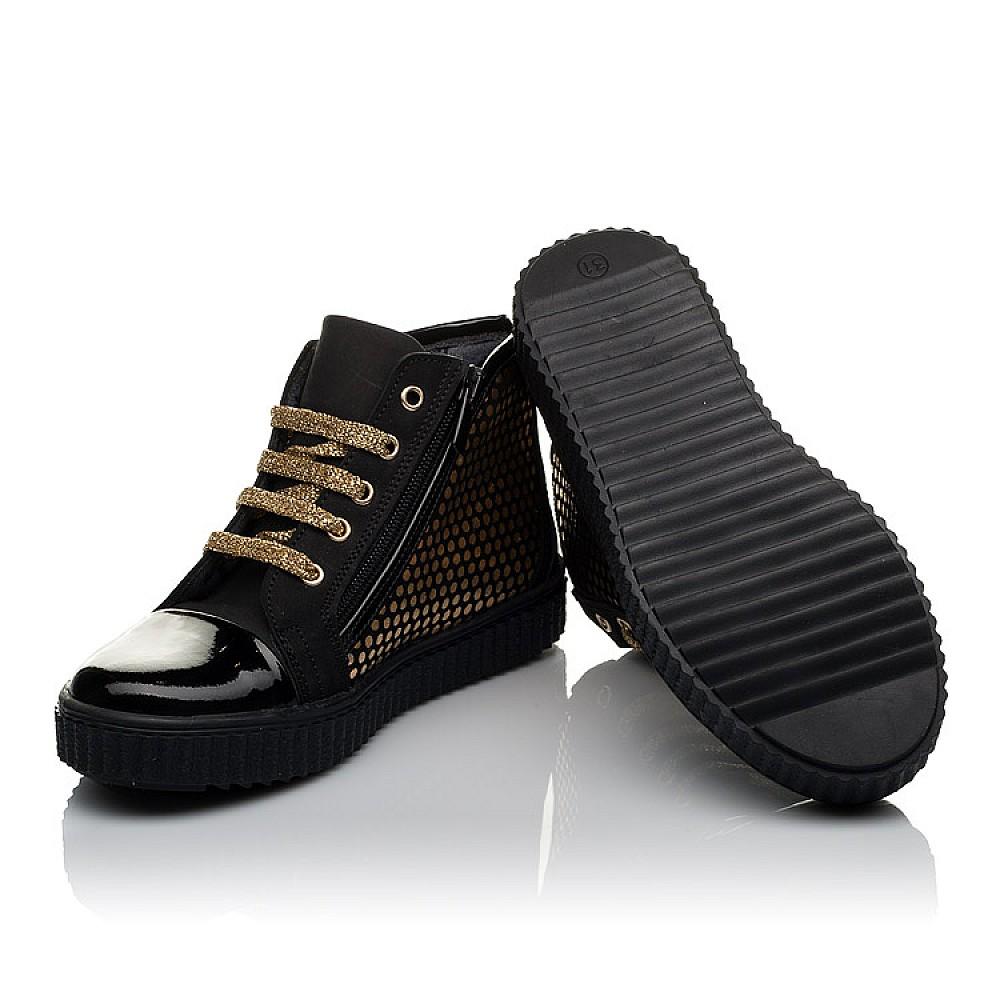 Детские демисезонные ботинки Woopy Orthopedic черные для девочек натуральный нубук, лаковая кожа размер 31-36 (3796) Фото 2