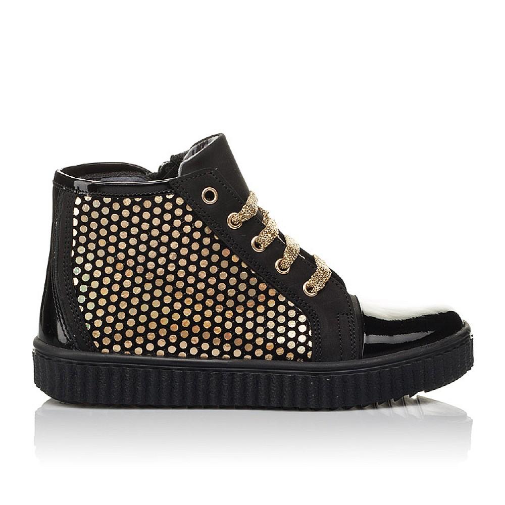 Детские демисезонные ботинки Woopy Orthopedic черные для девочек натуральный нубук, лаковая кожа размер 31-36 (3796) Фото 4