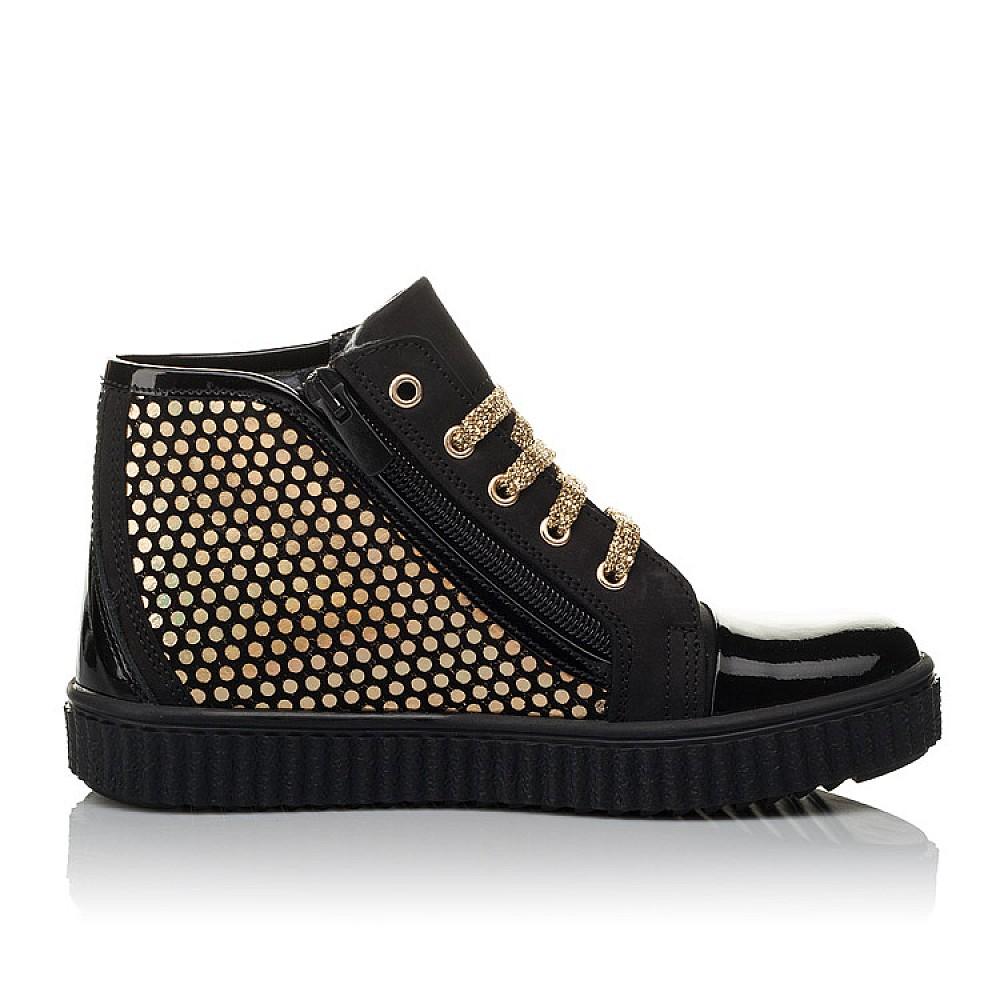 Детские демисезонные ботинки Woopy Orthopedic черные для девочек натуральный нубук, лаковая кожа размер 31-36 (3796) Фото 5