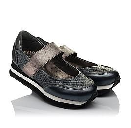 Детские туфли Woopy Orthopedic серые для девочек  натуральная кожа размер 32-39 (3797) Фото 1