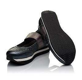 Детские туфли Woopy Orthopedic серые для девочек  натуральная кожа размер 32-39 (3797) Фото 2