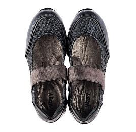 Детские туфли Woopy Orthopedic серые для девочек  натуральная кожа размер 32-39 (3797) Фото 5