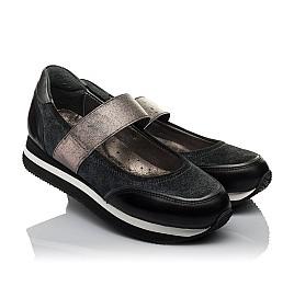 Детские туфли Woopy Orthopedic серые для девочек  натуральная кожа, замш размер 31-38 (3798) Фото 1