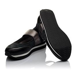 Детские туфли Woopy Orthopedic серые для девочек  натуральная кожа, замш размер 31-38 (3798) Фото 2