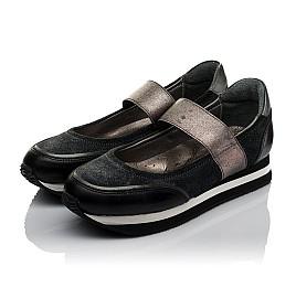 Детские туфли Woopy Orthopedic серые для девочек  натуральная кожа, замш размер 31-38 (3798) Фото 3