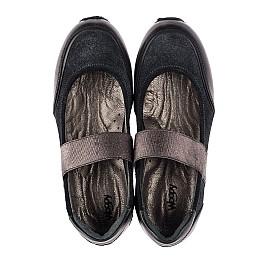 Детские туфли Woopy Orthopedic серые для девочек  натуральная кожа, замш размер 31-38 (3798) Фото 5