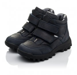 Детские демисезонные ботинки Woopy Orthopedic синие для мальчиков натуральный нубук размер 40-40 (3800) Фото 3
