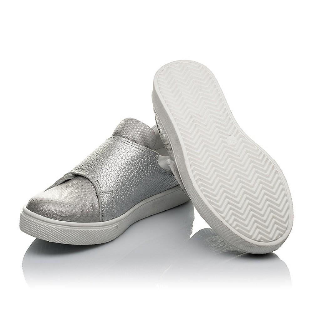 Детские кеды Woopy Orthopedic серебряные для девочек натуральная кожа, текстиль размер 26-36 (3801) Фото 2