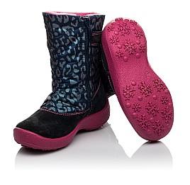 Детские термосапожки Floare темно-синие, розовые для девочек замша, текстиль размер 27-27 (3802) Фото 2