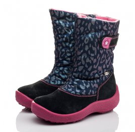 Детские термосапожки Floare темно-синие, розовые для девочек замша, текстиль размер 27-27 (3802) Фото 3
