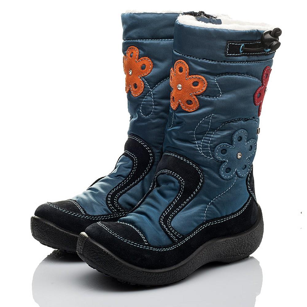 Детские термосапожки Floare синие для девочек замша, текстиль размер 30-35 (3804) Фото 3