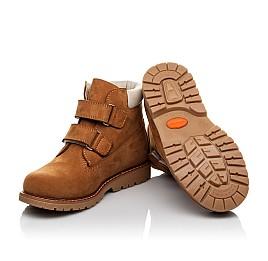 Детские демисезонные ботинки Woopy Orthopedic рыжие для мальчиков натуральный нубук размер 21-36 (3808) Фото 2