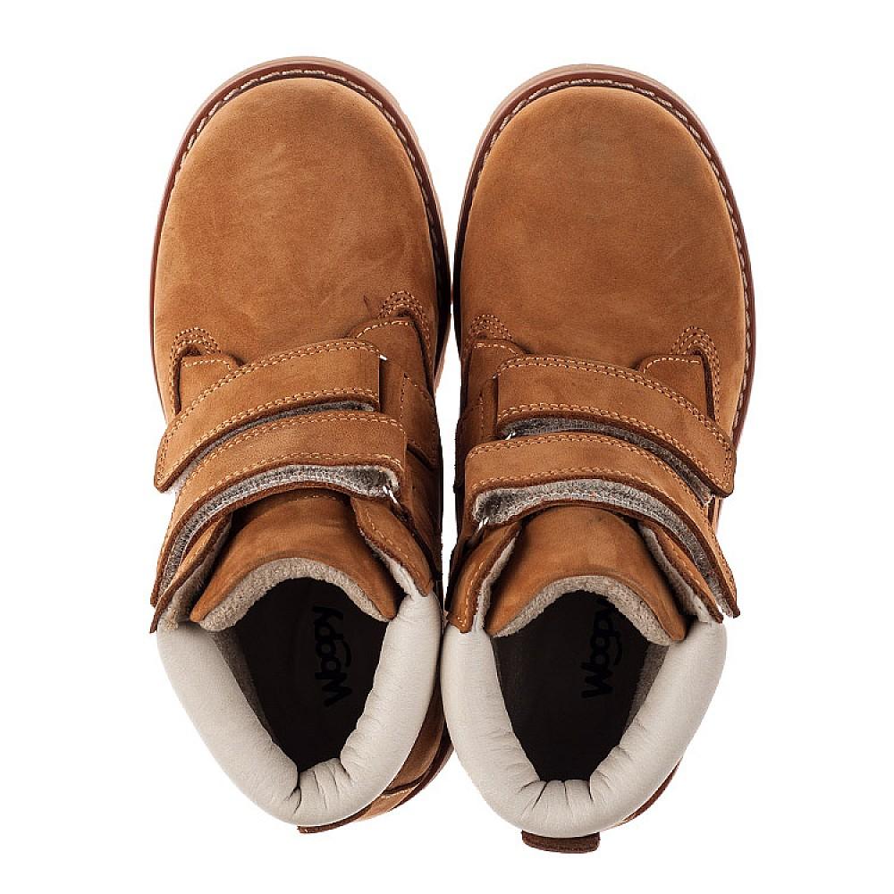 Детские демисезонные ботинки Woopy Orthopedic рыжие для мальчиков натуральный нубук размер 21-40 (3808) Фото 5