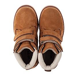 Детские демисезонные ботинки Woopy Orthopedic рыжие для мальчиков натуральный нубук размер 21-36 (3808) Фото 5