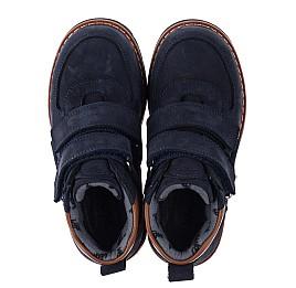 Детские демисезонные ботинки Woopy Orthopedic темно-синие для мальчиков натуральный нубук размер 25-33 (3810) Фото 5