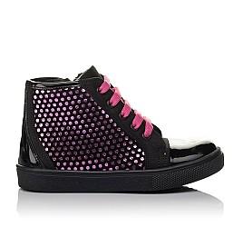 Детские демисезонные ботинки Woopy Orthopedic черные для девочек натуральный нубук, лаковая кожа размер 21-29 (3813) Фото 4