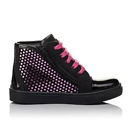 Детские демисезонные ботинки Woopy Orthopedic черные для девочек натуральный нубук, лаковая кожа размер 21-29 (3813) Фото 5