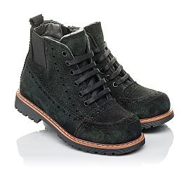 Детские демисезонные ботинки Woopy Orthopedic черные для девочек натуральная замша размер 23-32 (3814) Фото 1
