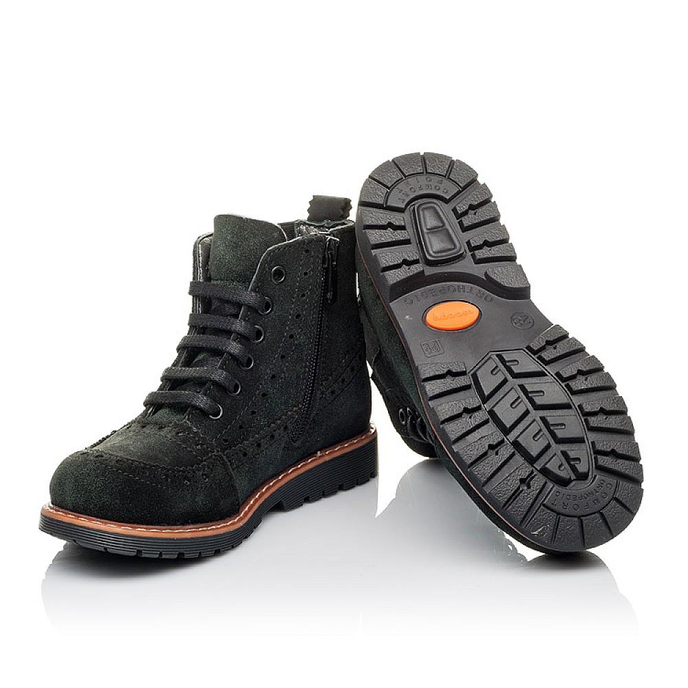 Детские демисезонные ботинки Woopy Orthopedic зеленые для девочек натуральная замша размер 23-33 (3814) Фото 2