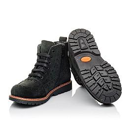 Детские демисезонные ботинки Woopy Orthopedic черные для девочек натуральная замша размер 23-32 (3814) Фото 2