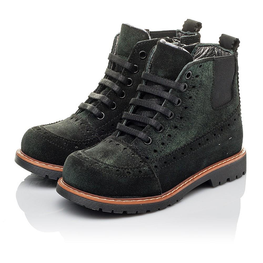 Детские демисезонные ботинки Woopy Orthopedic зеленые для девочек натуральная замша размер 23-33 (3814) Фото 3