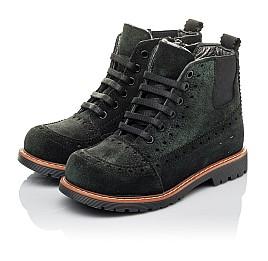Детские демисезонные ботинки Woopy Orthopedic черные для девочек натуральная замша размер 23-32 (3814) Фото 3