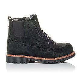 Детские демисезонные ботинки Woopy Orthopedic черные для девочек натуральная замша размер 23-32 (3814) Фото 4