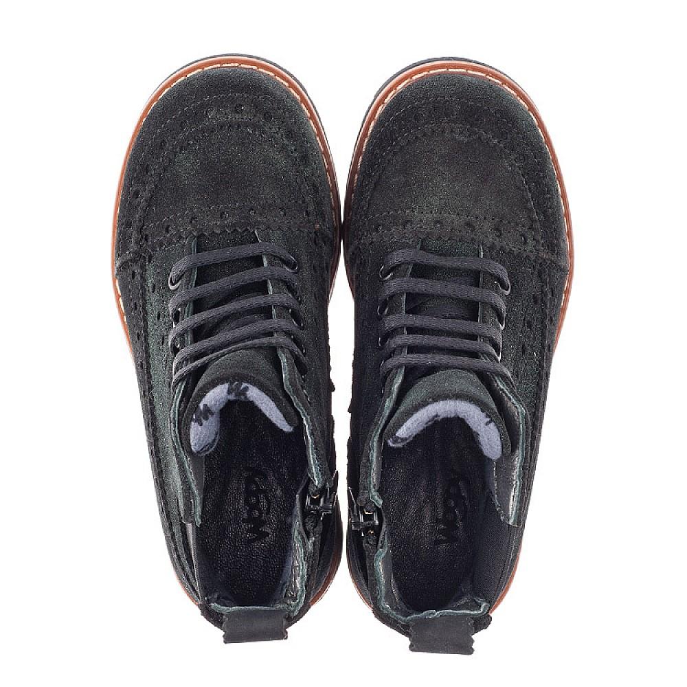 Детские демисезонные ботинки Woopy Orthopedic зеленые для девочек натуральная замша размер 23-33 (3814) Фото 5