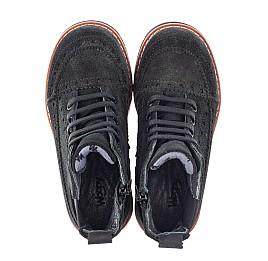 Детские демисезонные ботинки Woopy Orthopedic черные для девочек натуральная замша размер 23-32 (3814) Фото 5