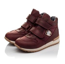 Детские демисезонные ботинки Woopy Orthopedic бордовые для девочек натуральная кожа, текстиль размер 27-34 (3817) Фото 2